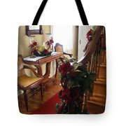 Christmas Rose And Stairs  Tote Bag