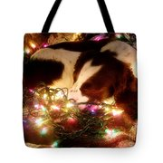 Christmas Spaniel Tote Bag