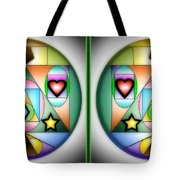 Christmas Tree - Gently Cross Your Eyes And Focus On The Middle Image Tote Bag