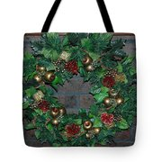 Christmas Wreath Tote Bag