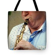 Christopher Mason Alto Sax Player Tote Bag