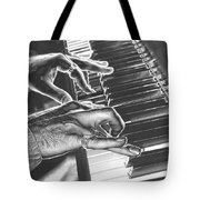 Chrome Piano Man Tote Bag