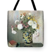Chrysanthemums In A Chinese Vase Tote Bag