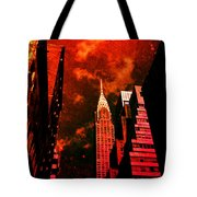 Chrysler Building - New York City Surreal Tote Bag