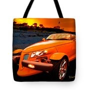Chrysler Plymouth Prowler Rocky Sunset Tote Bag