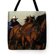 Rodeo Chuckwagon Racer Tote Bag