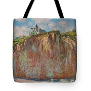 Church At Varengeville Morning Effect Tote Bag