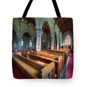 Church Benches Tote Bag