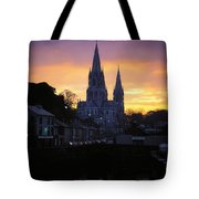 Church In A Town, Ireland Tote Bag