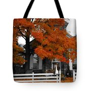 Church In Autumn Tote Bag