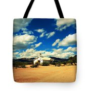 Church In Old Tuscon Arizona Tote Bag