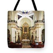 Church Interior In Puerto Vallarta Tote Bag