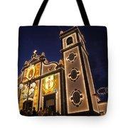 Church Lighting At Night Tote Bag