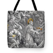 Church Of St James The Greater Prague - Stucco Bas-relief Tote Bag by Christine Till