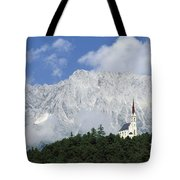 Church On Hilltop Tote Bag
