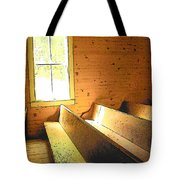 Church Pews - Light Through Window Tote Bag