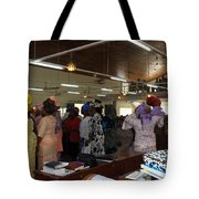Church Service In Nigeria Tote Bag