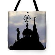Church Spires Silhouettes Tote Bag