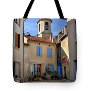 Church Steeple In Provence Tote Bag