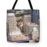 Cincinnati Aerial Skyline Downtown City Buildings Tote Bag
