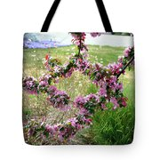 Circle Of Blossoms Tote Bag
