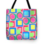 Circles And Squares Tote Bag