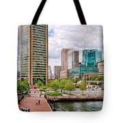 City - Baltimore Md - Harbor Place - Baltimore World Trade Center  Tote Bag