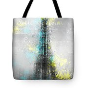 City-art Paris Eiffel Tower Letters Tote Bag