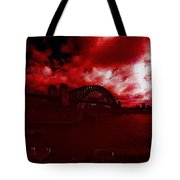 City Burning Tote Bag
