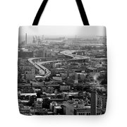 City By The Bay Tote Bag by Valeria Donaldson