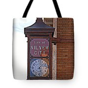 City Clock In Silver City Nm Tote Bag