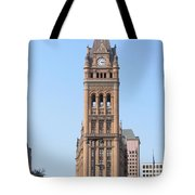 City Hall And Trolley Tote Bag