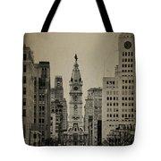 City Hall From North Broad Street Philadelphia Tote Bag