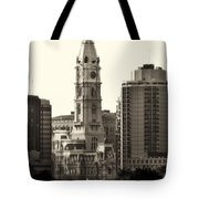 City Hall From The Parkway - Philadelphia Tote Bag