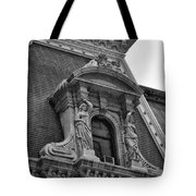 City Hall Window In Black And White Tote Bag