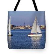 City Harbor Sailing Tote Bag