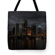City In The Storm Tote Bag