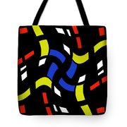 City Lights Abstract Tote Bag