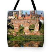 City Of Gdansk In Poland Tote Bag