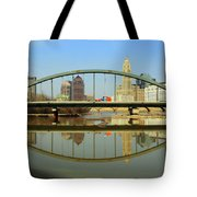 City Reflections Through A Bridge Tote Bag