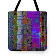 City Windows Abstract Pop Art Colors Tote Bag
