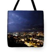 Cityscape At Night Tote Bag