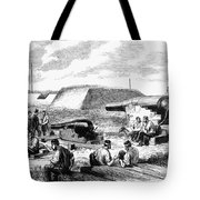 Civil War Battery Scene Tote Bag