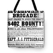 Civil War: Broadside, 1863 Tote Bag