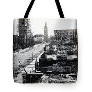 Civil War Damaged Charleston South Carolina - Meeting Street - C 1865 Tote Bag
