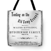 Civil War: Song Sheet Tote Bag