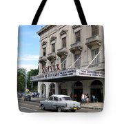 Classic Auto And Old Movie Theatre Tote Bag