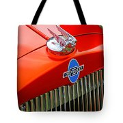 Classic Chevrolet Hood And Grill Tote Bag