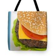 Classic Hamburger With Cheese Tomato And Salad Tote Bag