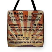 Classic Rock 1969 Tote Bag